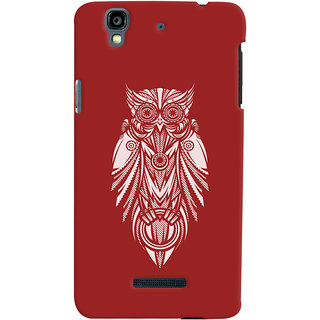 Oyehoye Micromax Yureka Plus Mobile Phone Back Cover With Animal Print Owl - Durable Matte Finish Hard Plastic Slim Case