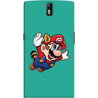 Oyehoye OnePlus One Mobile Phone Back Cover With Super Mario - Durable Matte Finish Hard Plastic Slim Case