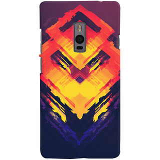 Oyehoye OnePlus 2 Mobile Phone Back Cover With Abstract Art - Durable Matte Finish Hard Plastic Slim Case