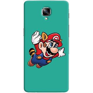 Oyehoye OnePlus 3 Mobile Phone Back Cover With Super Mario - Durable Matte Finish Hard Plastic Slim Case