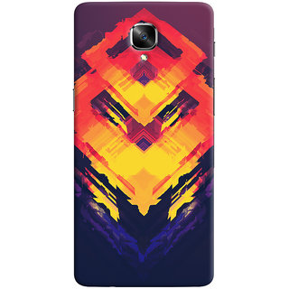 Oyehoye OnePlus 3 Mobile Phone Back Cover With Abstract Art - Durable Matte Finish Hard Plastic Slim Case
