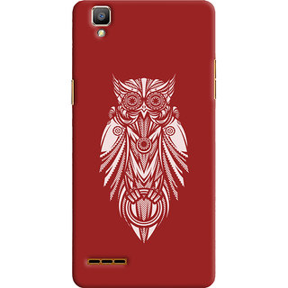 Oyehoye Oppo F1 Mobile Phone Back Cover With Animal Print Owl - Durable Matte Finish Hard Plastic Slim Case