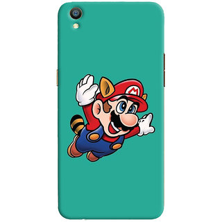 Oyehoye Oppo F1 Plus Mobile Phone Back Cover With Super Mario - Durable Matte Finish Hard Plastic Slim Case