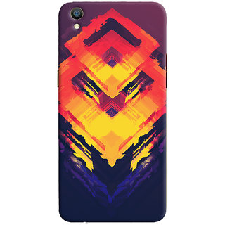 Oyehoye Oppo F1 Plus Mobile Phone Back Cover With Abstract Art - Durable Matte Finish Hard Plastic Slim Case