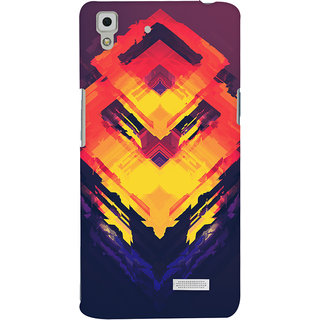 Oyehoye Oppo R7 Mobile Phone Back Cover With Abstract Art - Durable Matte Finish Hard Plastic Slim Case