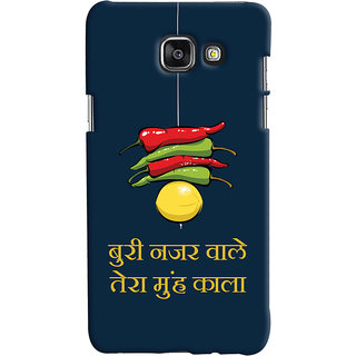 Oyehoye Samsung Galaxy A5 A510 (2016 Edition) Mobile Phone Back Cover With Buri Nazar Wale Tera Muh Kala Quirky - Durable Matte Finish Hard Plastic Slim Case