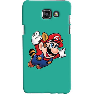 Oyehoye Samsung Galaxy A7 A710 (2016 Edition) Mobile Phone Back Cover With Super Mario - Durable Matte Finish Hard Plastic Slim Case