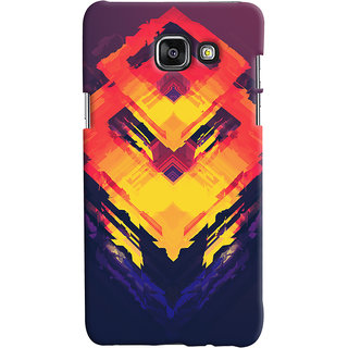 Oyehoye Samsung Galaxy A7 A710 (2016 Edition) Mobile Phone Back Cover With Abstract Art - Durable Matte Finish Hard Plastic Slim Case