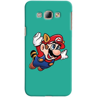 Oyehoye Samsung Galaxy A8 (2015) Mobile Phone Back Cover With Super Mario - Durable Matte Finish Hard Plastic Slim Case