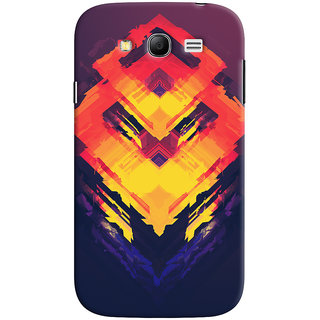Oyehoye Samsung Galaxy Grand Duos / i9082 Mobile Phone Back Cover With Abstract Art - Durable Matte Finish Hard Plastic Slim Case
