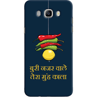 Oyehoye Samsung Galaxy J5 (2016) Mobile Phone Back Cover With Buri Nazar Wale Tera Muh Kala Quirky - Durable Matte Finish Hard Plastic Slim Case