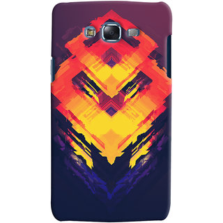 Oyehoye Samsung Galaxy J7 Mobile Phone Back Cover With Abstract Art - Durable Matte Finish Hard Plastic Slim Case