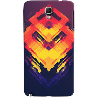 Oyehoye Galaxy Note 3 Neo Mobile Phone Back Cover With Abstract Art - Durable Matte Finish Hard Plastic Slim Case