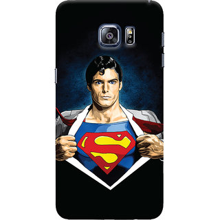 Oyehoye Samsung Galaxy S6 Edge Mobile Phone Back Cover With Superman - Durable Matte Finish Hard Plastic Slim Case