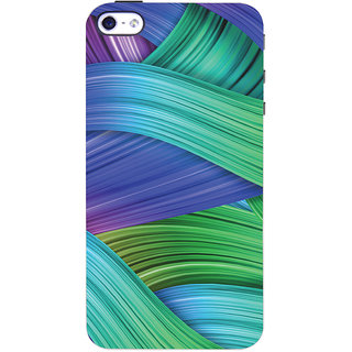 Oyehoye Apple iPhone 4 Mobile Phone Back Cover With Abstract Art - Durable Matte Finish Hard Plastic Slim Case