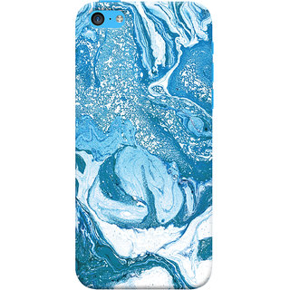 Oyehoye   5C Mobile Phone Back Cover With Abstract Art - Durable Matte Finish Hard Plastic Slim Case