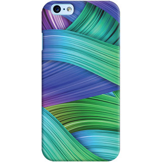 Oyehoye   6S Mobile Phone Back Cover With Abstract Art - Durable Matte Finish Hard Plastic Slim Case