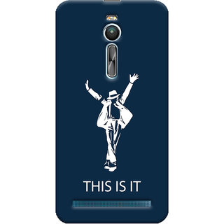 Oyehoye Asus Zenfone 2 ZE550ML Mobile Phone Back Cover With This is it Michael Jackson - Durable Matte Finish Hard Plastic Slim Case
