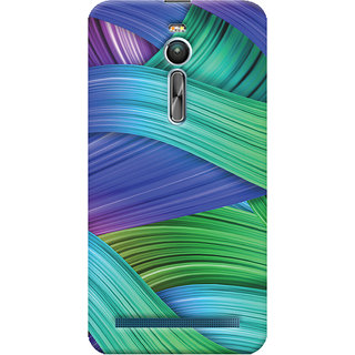 Oyehoye Asus Zenfone 2 ZE550ML Mobile Phone Back Cover With Abstract Art - Durable Matte Finish Hard Plastic Slim Case