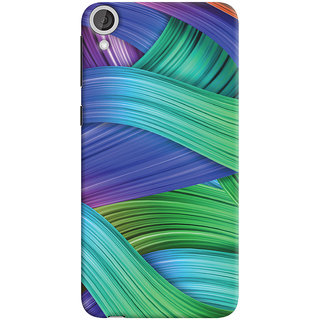 Oyehoye HTC Desire 820 Mobile Phone Back Cover With Abstract Art - Durable Matte Finish Hard Plastic Slim Case
