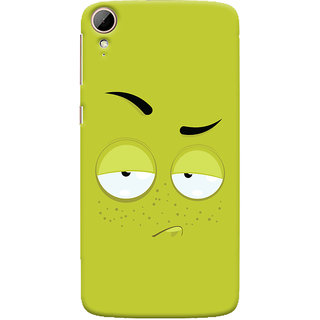 Oyehoye HTC Desire 828 / Dual Sim Mobile Phone Back Cover With Smiley Expression - Durable Matte Finish Hard Plastic Slim Case
