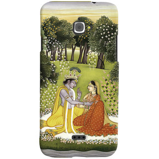 Oyehoye Infocus M350 Mobile Phone Back Cover With Vintage Radhe Krishna Art - Durable Matte Finish Hard Plastic Slim Case