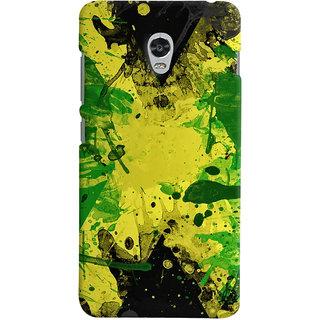 Oyehoye Lenovo Vibe P1 Mobile Phone Back Cover With Colourful Art - Durable Matte Finish Hard Plastic Slim Case