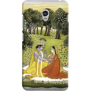 Oyehoye Lenovo Vibe P1 Turbo Mobile Phone Back Cover With Vintage Radhe Krishna Art - Durable Matte Finish Hard Plastic Slim Case