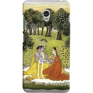 Oyehoye Lenovo Vibe P1 Turbo Mobile Phone Back Cover With Vintage Radhe Krishna Art - Durable Matte Finish Hard Plastic Slim Case