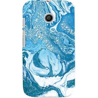 Oyehoye Motorola Moto E Mobile Phone Back Cover With Abstract Art - Durable Matte Finish Hard Plastic Slim Case