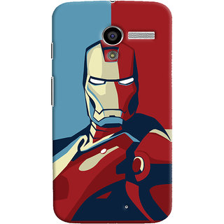Oyehoye Motorola Moto X Mobile Phone Back Cover With Iron Man - Durable Matte Finish Hard Plastic Slim Case