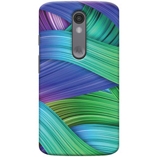Oyehoye Motorola Moto X Force Mobile Phone Back Cover With Abstract Art - Durable Matte Finish Hard Plastic Slim Case