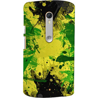 Oyehoye Motorola Moto X Style Mobile Phone Back Cover With Colourful Art - Durable Matte Finish Hard Plastic Slim Case