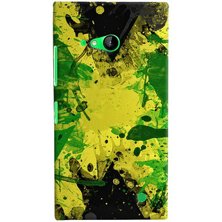 Oyehoye Microsoft Lumia 730 / Dual Sim Mobile Phone Back Cover With Colourful Art - Durable Matte Finish Hard Plastic Slim Case