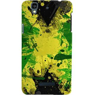 Oyehoye Micromax Yureka Plus Mobile Phone Back Cover With Colourful Art - Durable Matte Finish Hard Plastic Slim Case