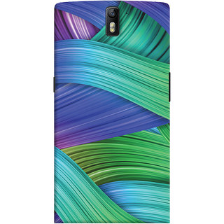 Oyehoye OnePlus One Mobile Phone Back Cover With Abstract Art - Durable Matte Finish Hard Plastic Slim Case
