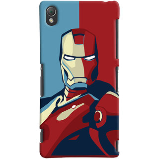 Oyehoye Sony Xperia Z3 Compact / Mini Mobile Phone Back Cover With Iron Man - Durable Matte Finish Hard Plastic Slim Case