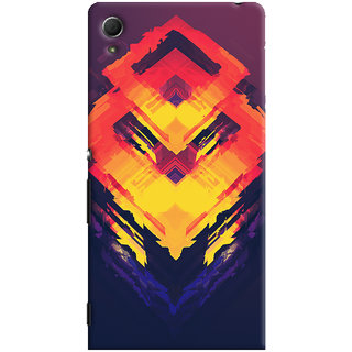 Oyehoye Sony Xperia Z4 Mobile Phone Back Cover With Abstract Art - Durable Matte Finish Hard Plastic Slim Case