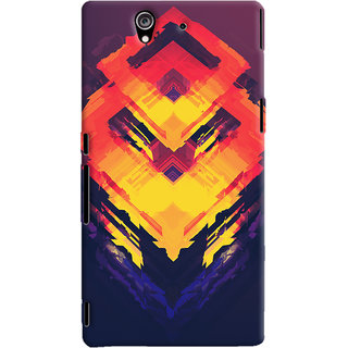 Oyehoye Sony Xperia Z Mobile Phone Back Cover With Abstract Art - Durable Matte Finish Hard Plastic Slim Case