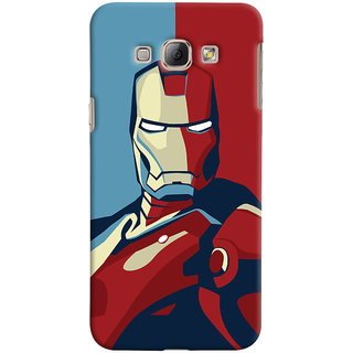 Oyehoye Samsung Galaxy A8 (2015) Mobile Phone Back Cover With Iron Man - Durable Matte Finish Hard Plastic Slim Case