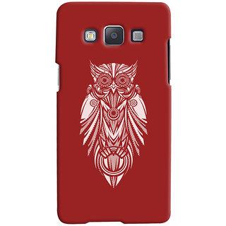 Oyehoye Samsung Galaxy E5 Mobile Phone Back Cover With Animal Print Owl - Durable Matte Finish Hard Plastic Slim Case