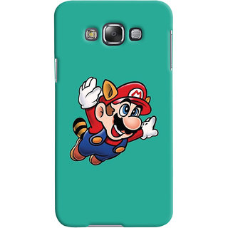 Oyehoye Samsung Galaxy E7 Mobile Phone Back Cover With Super Mario - Durable Matte Finish Hard Plastic Slim Case