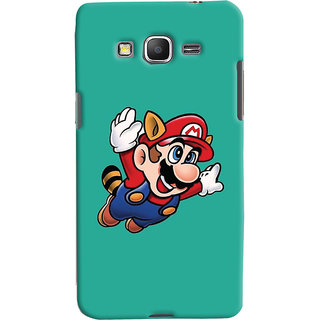 Oyehoye Samsung Galaxy Grand Prime Mobile Phone Back Cover With Super Mario - Durable Matte Finish Hard Plastic Slim Case
