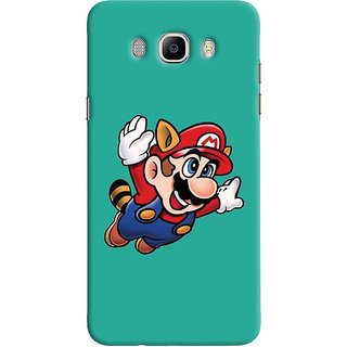 Oyehoye Samsung Galaxy J7 (2016) Mobile Phone Back Cover With Super Mario - Durable Matte Finish Hard Plastic Slim Case