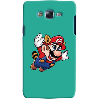Oyehoye Samsung Galaxy J7 Mobile Phone Back Cover With Super Mario - Durable Matte Finish Hard Plastic Slim Case