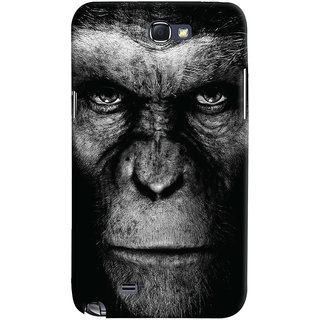 Oyehoye Samsung Galaxy Note 2 Mobile Phone Back Cover With Gorilla - Durable Matte Finish Hard Plastic Slim Case