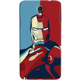 Oyehoye Galaxy Note 3 Neo Mobile Phone Back Cover With Iron Man - Durable Matte Finish Hard Plastic Slim Case