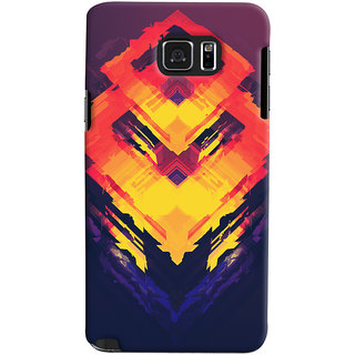 Oyehoye Samsung Galaxy Note 5 Mobile Phone Back Cover With Abstract Art - Durable Matte Finish Hard Plastic Slim Case