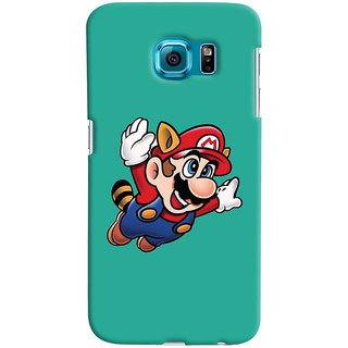 Oyehoye Samsung Galaxy S6 Mobile Phone Back Cover With Super Mario - Durable Matte Finish Hard Plastic Slim Case