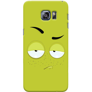 Oyehoye Samsung Galaxy S6 Edge Plus Mobile Phone Back Cover With Smiley Expression - Durable Matte Finish Hard Plastic Slim Case